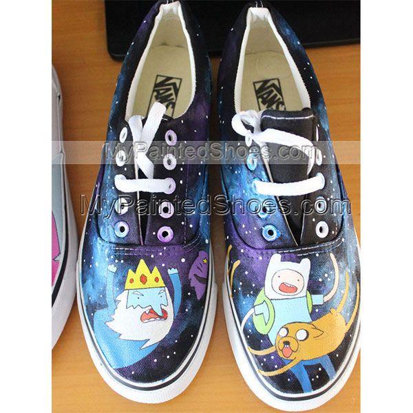 Custom Anime Vans Adventure Time Vans Painted Shoes Painted