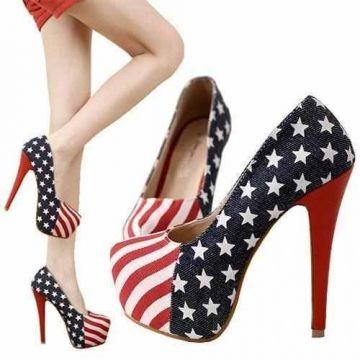 Zapatos nuevos exclusivos,diseño bandera USA $9.990.-