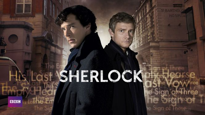 Sherlock on Netflix | In this updated take on Arthur Conan Doyle's beloved mystery tales, the eccentric sleuth prowls the streets of modern-day London in search of clues.