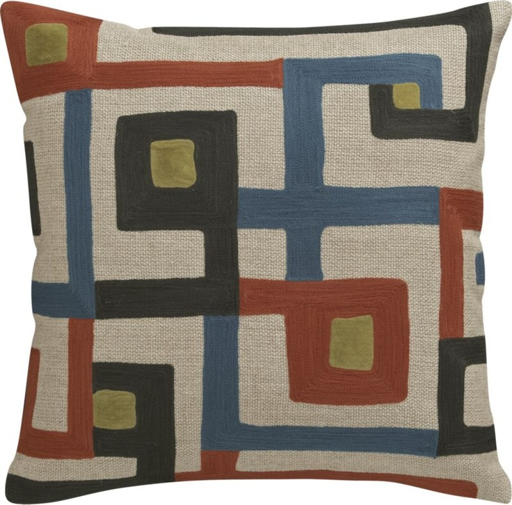 Throw Pillow Covers Crate And Barrel : Torben Blue Full/Queen Duvet Cover Colors, The o'jays and Decorative pillows