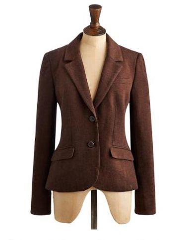 Joules Henford Jersey Blazer in Classic Brown Tweed.