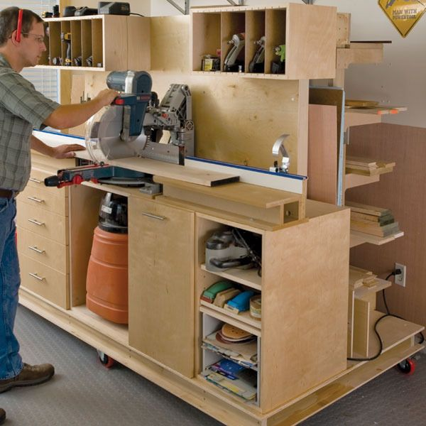 Deluxe Crosscut Station with Lumber Rack Woodworking Plan by Woodcraft Magazine