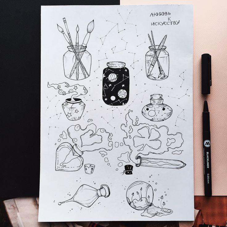 главным маленькие милые рисунки карандашом в скетчбуке интересных