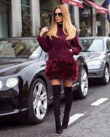 Jacheta London Burgundy New Arrivals | ChicDiva faux fur, autumn, winter, 2016, fashion, fashionista, ootd, outfit, fur, outfitoftheday,shopping, fall, glam streetstyle, burgundy,marsala