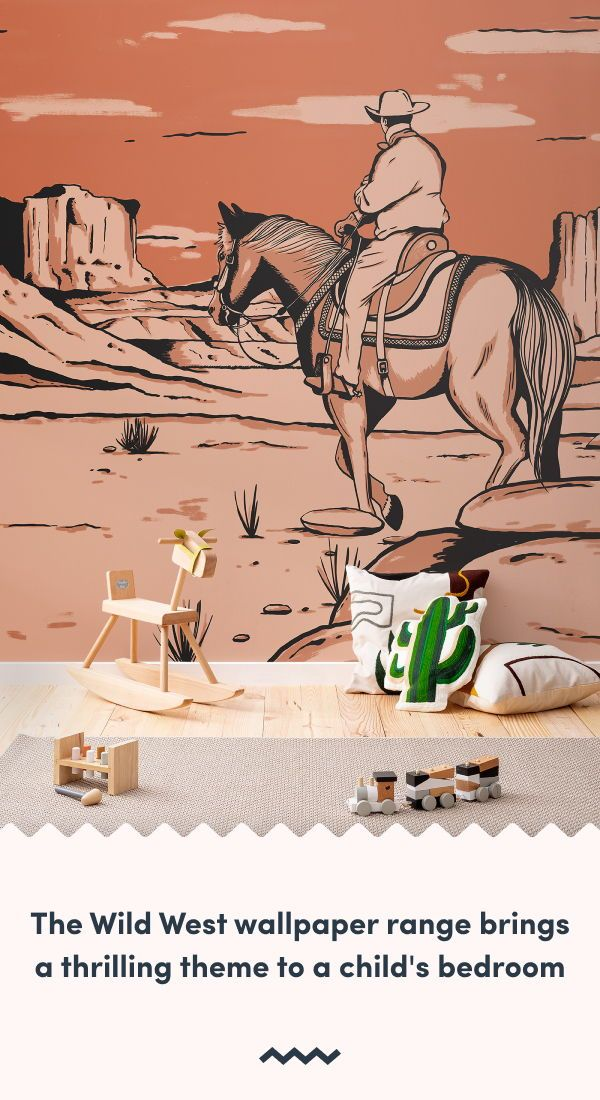 Cowboy Wallpaper Cactus Wall Murals Murals Wallpaper In 2020 Mural Wallpaper Southwestern Wallpaper Playroom Wallpaper