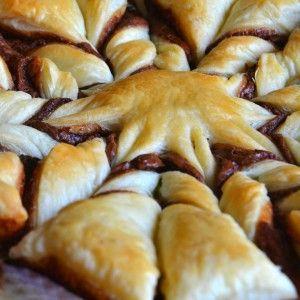 QUI #Ricetta #Dolce veloce #Sfoglia e #Nutella http://blog.giallozafferano.it/dolcipocodolci/torta-pasta-sfoglia-e-nutella-a-stella/ #RicetteBloggerRiunite