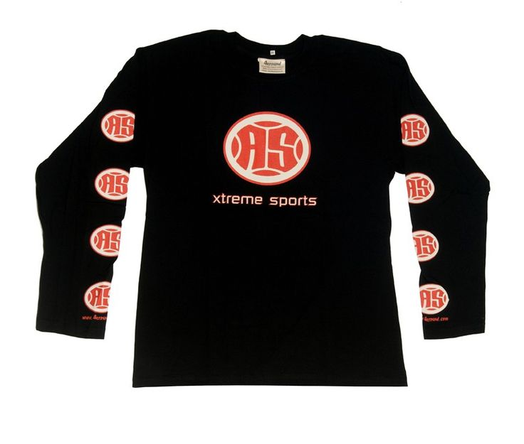 A.S. Xtreme Long Sleeve T-Shirt - Red Logo (Black)