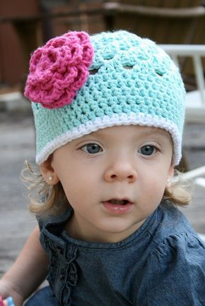 Free Pattern: Open Weave Beanie~ this made a super cute and easy hat!