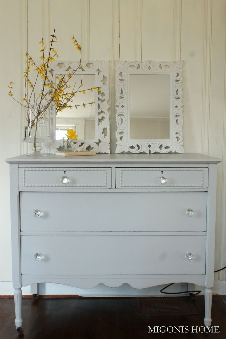 Stonington Gray Dresser - Blog with beautiful redo's. For inspiration