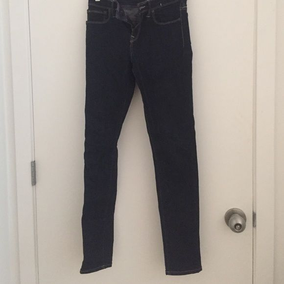 Jack Wills Dark Skinny Jean Great looking dark wash pair of Jack Wills skinny/straight leg denim jeans. Size 27, but run a bit tight. No signs of wear. Professional looking and great fitting! Jack Wills Jeans Skinny