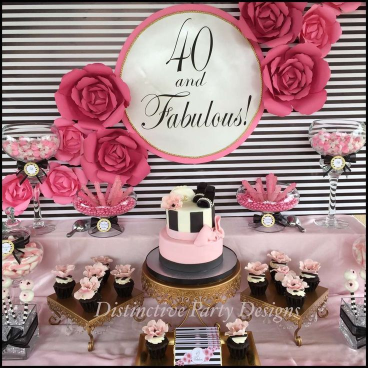 Fabulous 40th birthday party! See more party planning ideas at http://CatchMyParty.com!