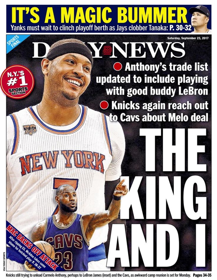 Sources say that the Knicks have reached out to the Cleveland Cavaliers in the last 10 days to gauge their interest in a possible trade for Carmelo Anthony. The Knicks  believe Anthony is amenable to joining the Cavs to play with his buddy, LeBron James.