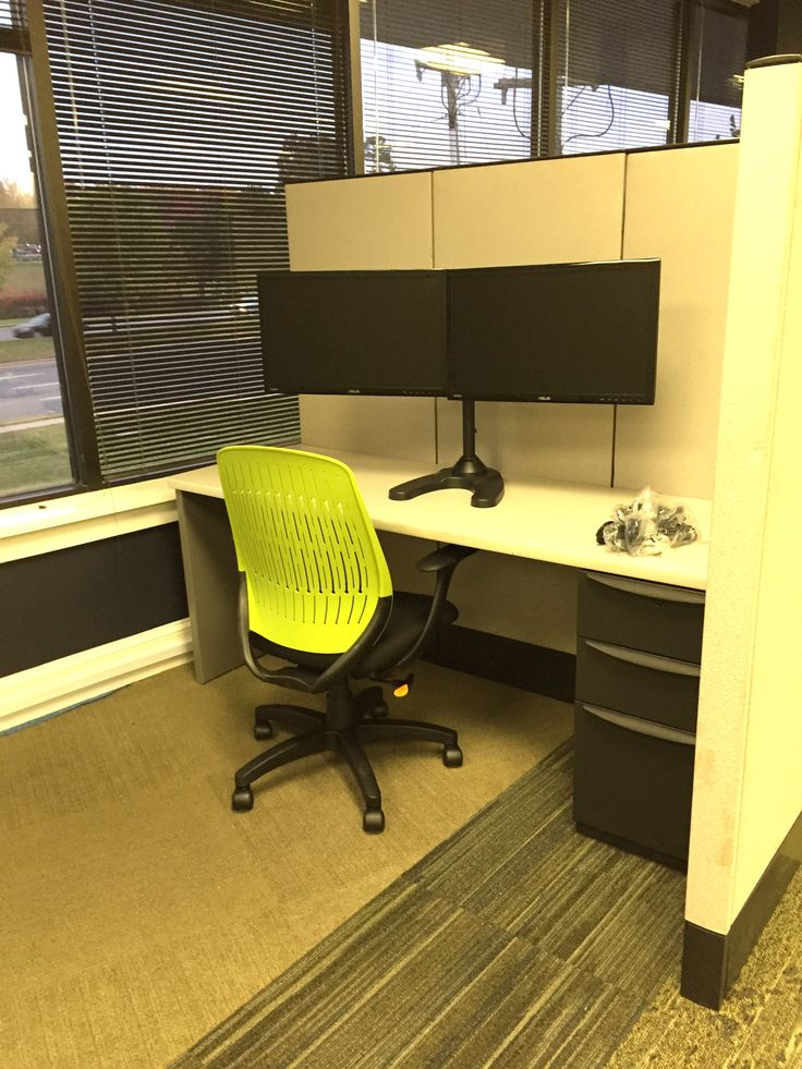 Bright Green Chairs Add A Fun Pop Of Color In This Office Design Environs  Designed.