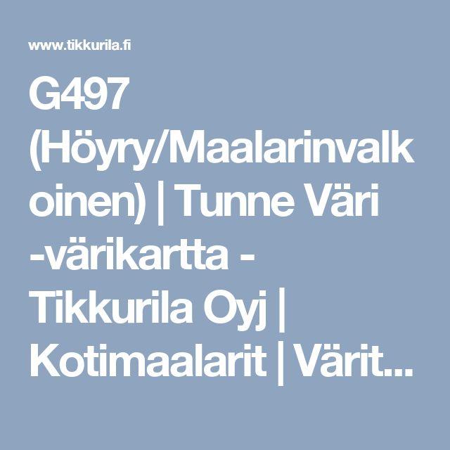 G497 (Höyry/Maalarinvalkoinen) | Tunne Väri -värikartta - Tikkurila Oyj | Kotimaalarit | Värit | Värikartat sisämaalaukseen