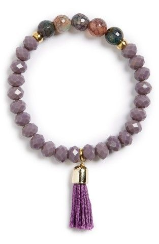 The cure to your bare arms - the Panacea Stone & Tassel Bracelet.