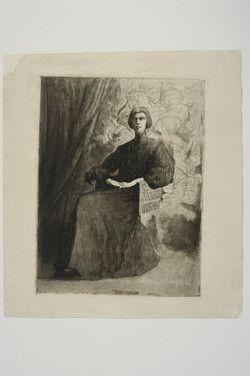 Siedlecki, Franciszek (1867-1934): [Portret Jadwigi Siedleckiej]