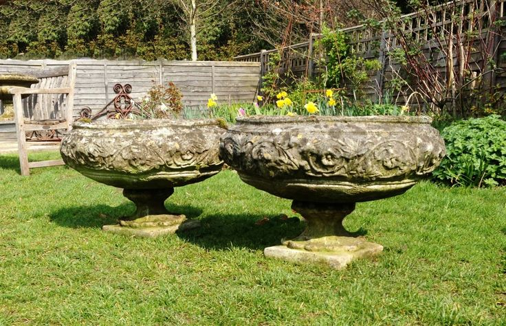 Pair of Tazza Planters in Urns and Planters from The Vintage Garden Company