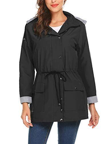 331a07fa413 Raincoats Waterproof Lightweight Rain Jacket Active Outdoor Hooded Women s  Trench Coats Best Winter Coats USA