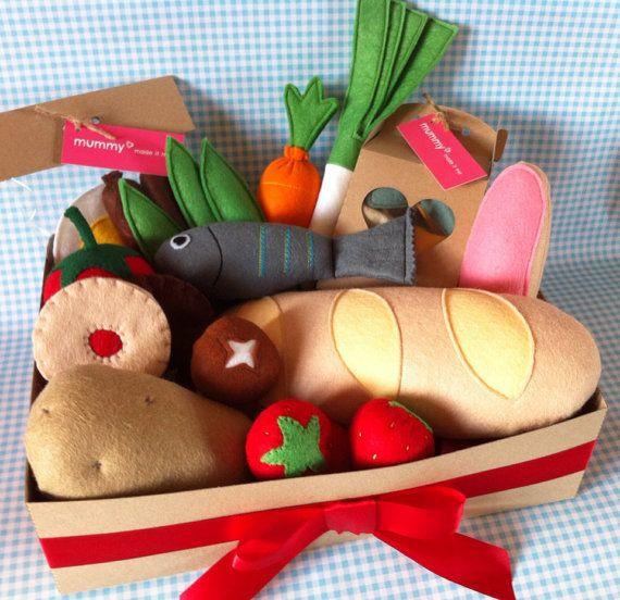 Pretend Play Felt Food Christmas Bumper Hamper Gift