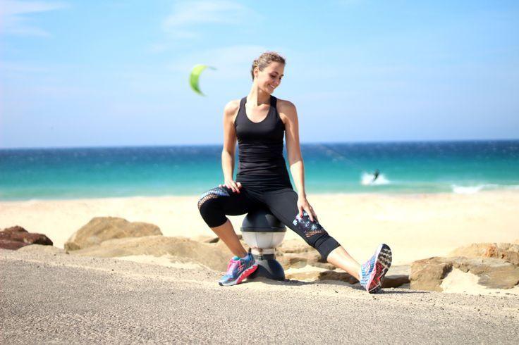 Look deporte, leggins oysho, zapatillas deporte correr skechers, camiseta Nike. Running