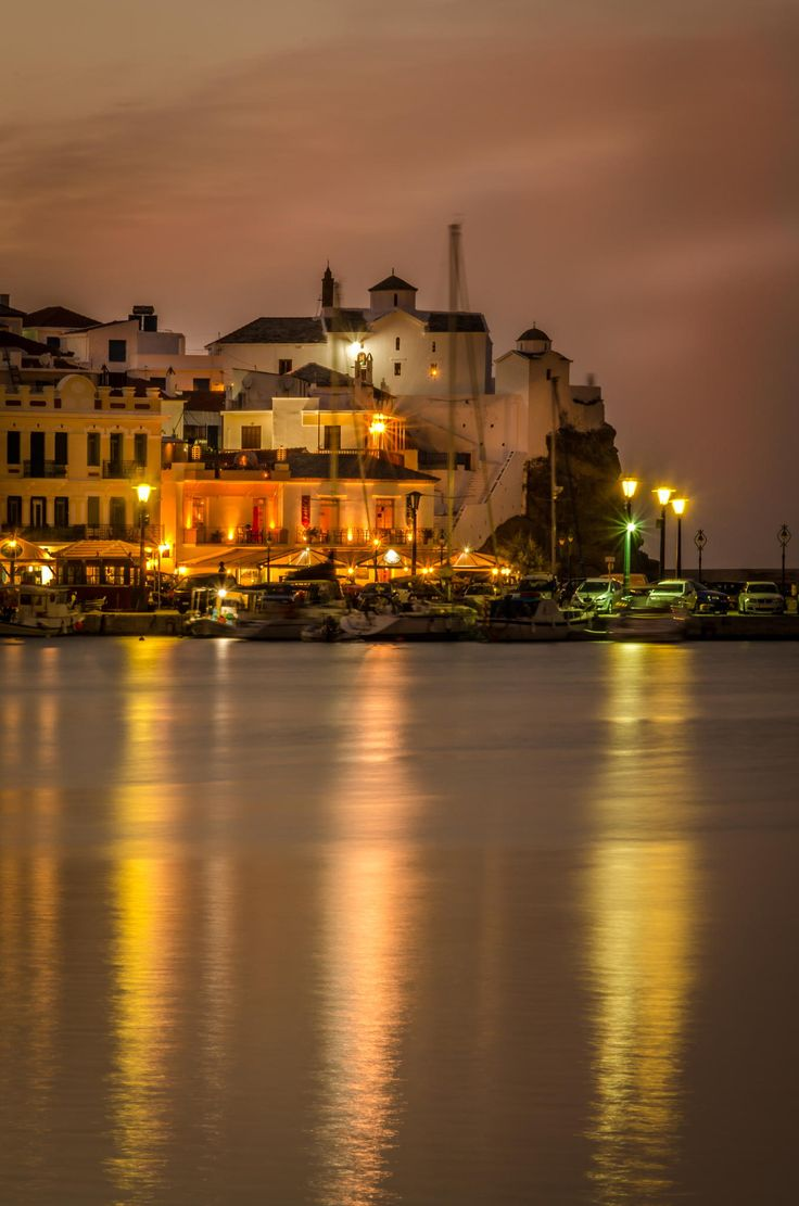 Skopelos Castle by Night - Greece