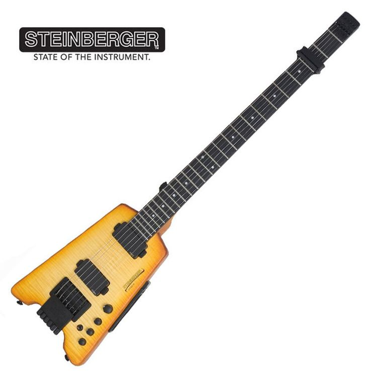 Steinberger Synapse TranScale ST-2FPA Custom Trans Amber Headless Guitar EMG #Steinberger