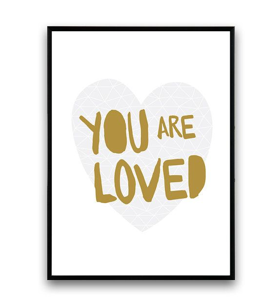 Love poster Typographic print Romantic quote Love by Wallzilla