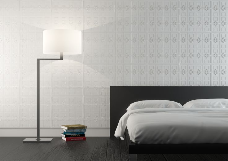 Bedroom interior with Haus tiles