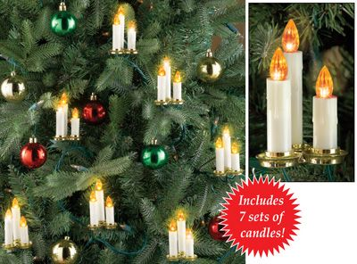 lighted candle tree string lights set of 7 - Christmas Tree Pathway Lights