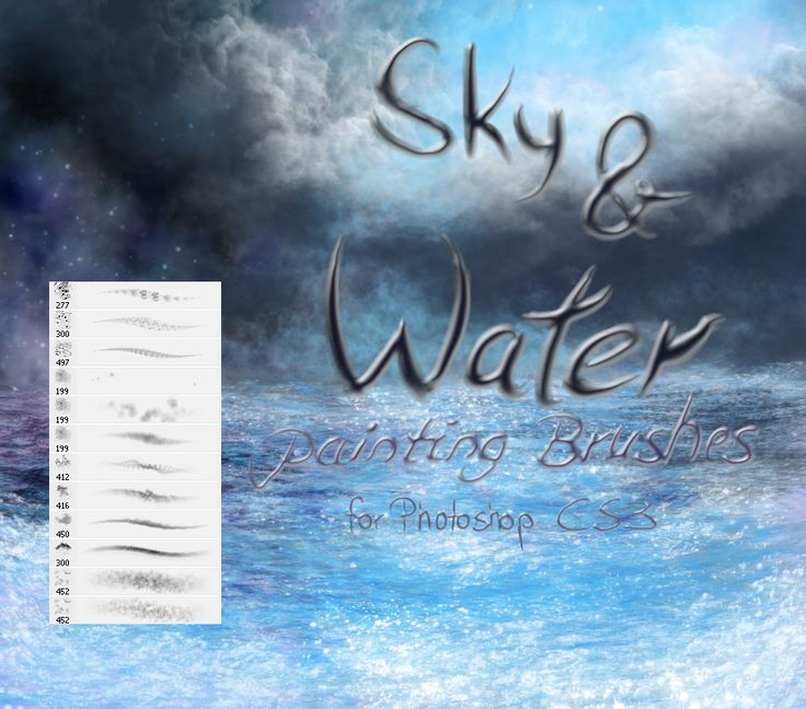 Sky and Water painting brushes by El-Chupacabras.deviantart.com on @DeviantArt