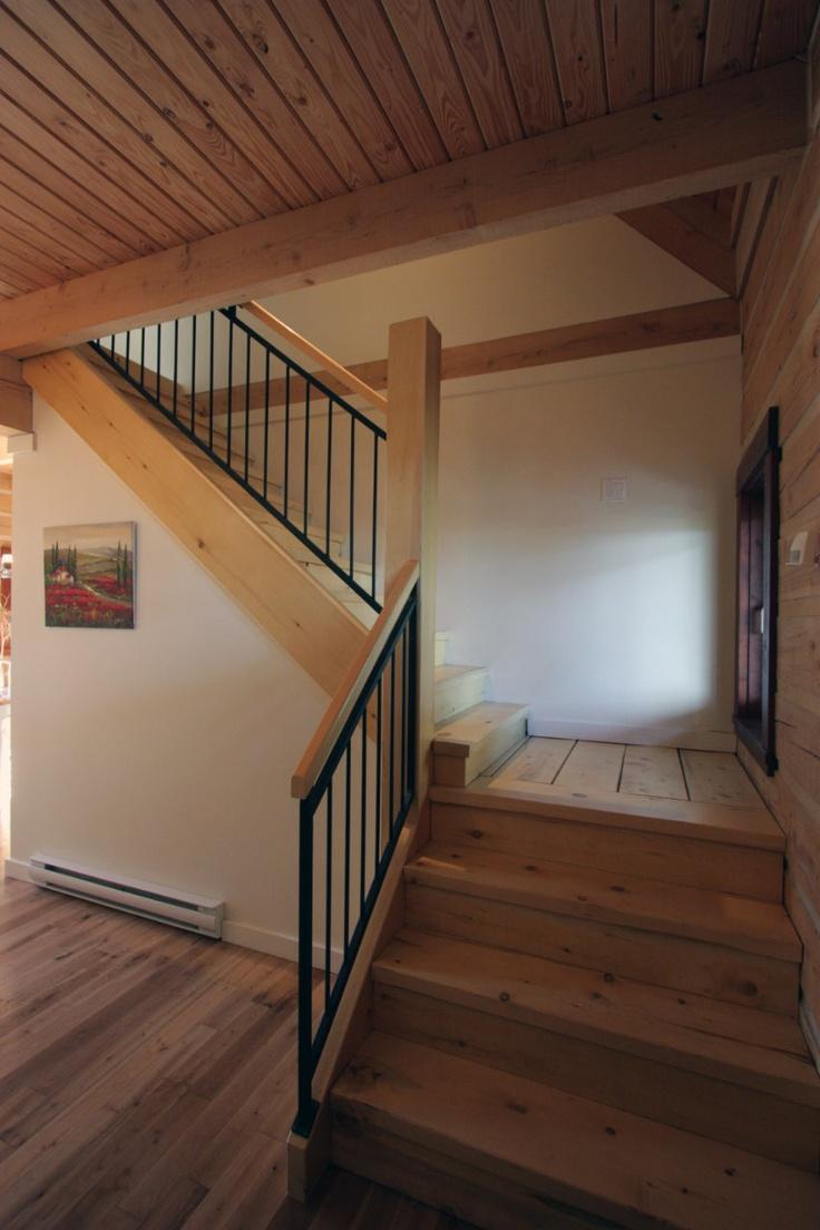 Stair rails simple, clean, modern. House Interior