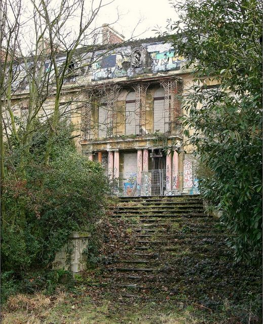 Rothschild Mansion in Paris. The neo-Louis XIV castle has been abandoned since the Second World War when the Rothschild family fled to England before the arrival of the Germans, who would later inhabit and plunder the house during the four-year Nazi occupation of Paris. The Rothschilds never returned to their home and over the decades it has been left to deteriorate.