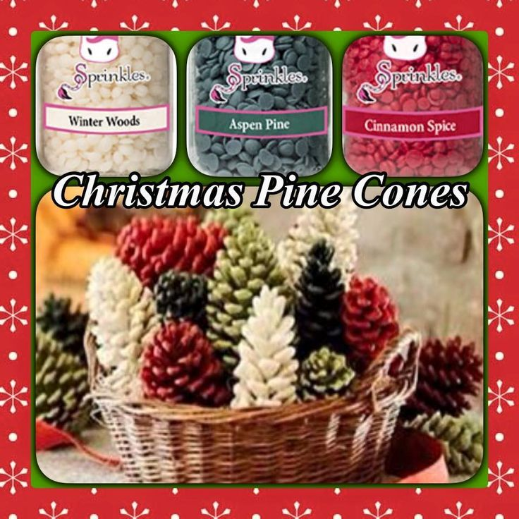Christmas Pine cones sprinkle recipe Pink Zebra. Grab these three to recreate this magical seasonal scent in your home.