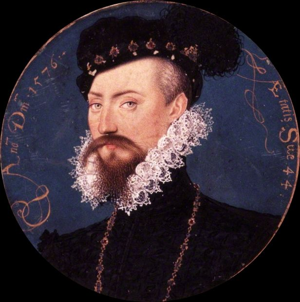 Sir Robert Dudley aged 44 by Nicholas Hilliard, 1576 - 1st Earl of Leicester…