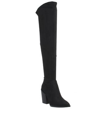 Kendall - Kylie, Portia Over The Knee Boots, Black Suede