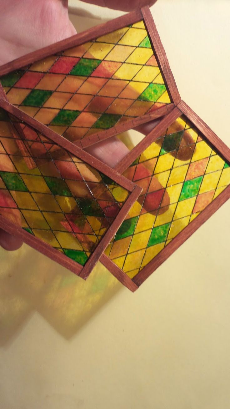 how to: miniature stained glass window