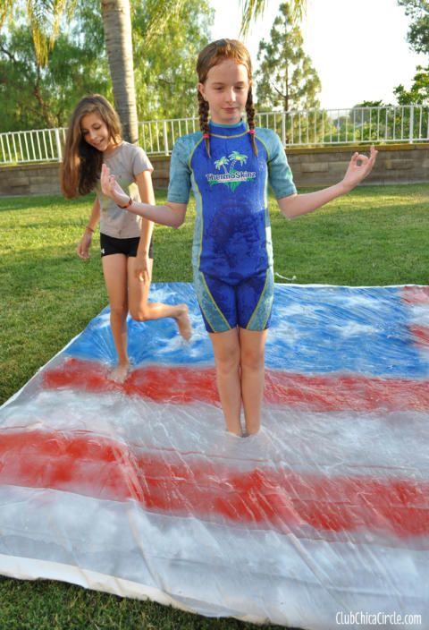 Homemade Water Blob for Backyard Summer Party