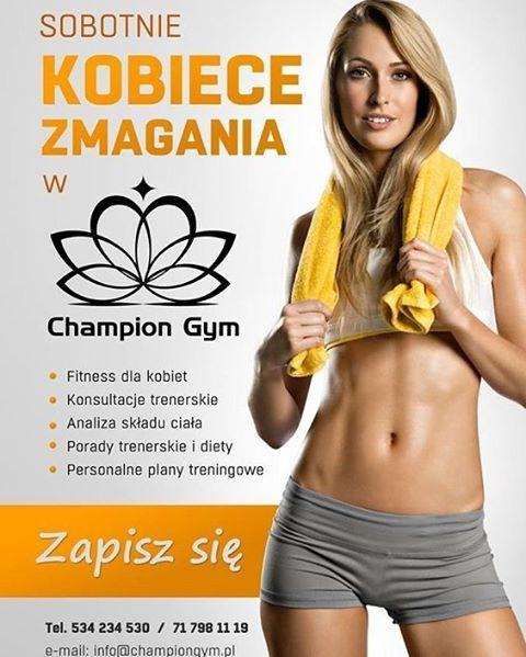 Już jutro w #ChampionGym #sobota #zapraszamy #fitness #sport