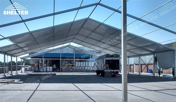 SHELTER 25x50m Outdoor Storage Tent with PVC Fabric