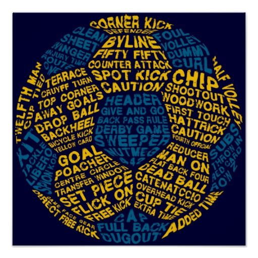 Soccer Ball Typography Poster