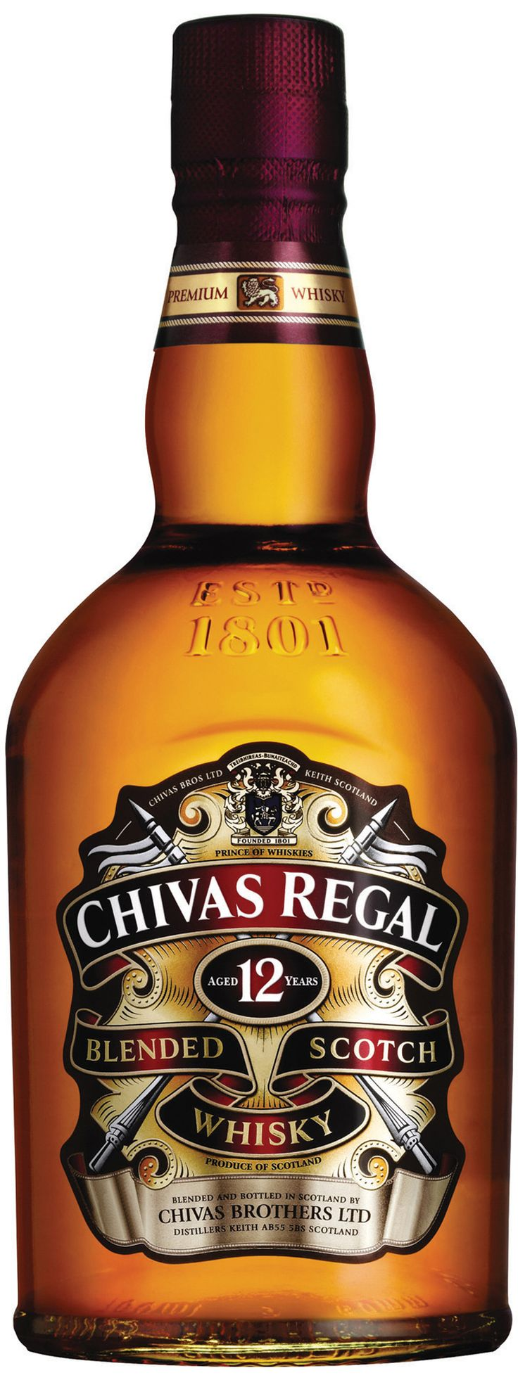 "Blended Scotch Whisky ""Chivas Regal 12 Years"" - Chivas Brothers Ltd, Escocia, UK"