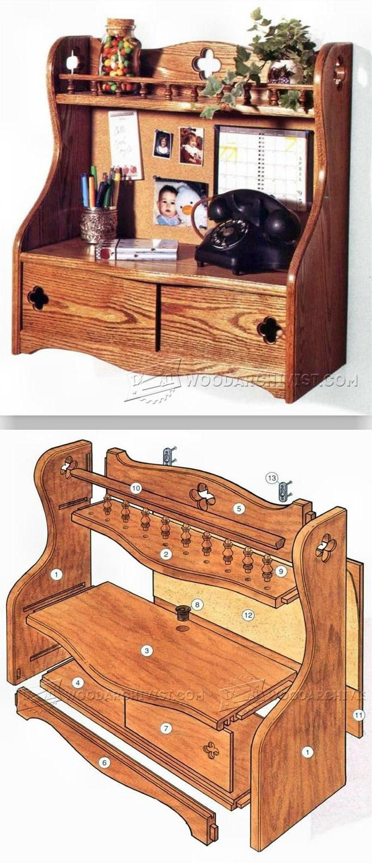 DIY Entryway Organizer - Furniture Plans and Projects | WoodArchivist.com