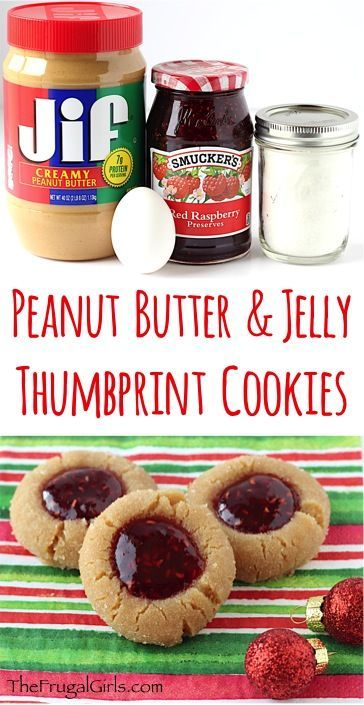 Peanut Butter Jelly Cookie Recipe! ~ from TheFrugalGirls.com ~ pb and j is just for sandwiches... it's also ridiculously delicious as a cookie! These sweet little Thumbprint Cookies are perfect for your holiday parties and Christmas Cookie Exchanges, too! #recipes #thefrugalgirls