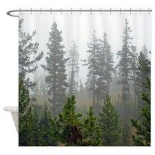 Misty forest Shower Curtain for