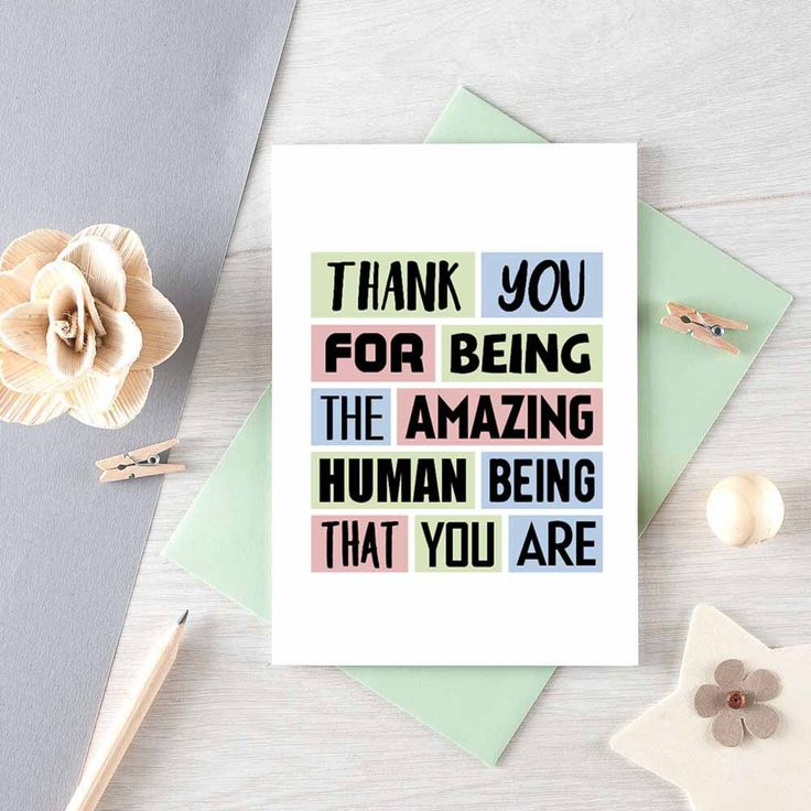 thank you card for friend  card for husband  thanks card