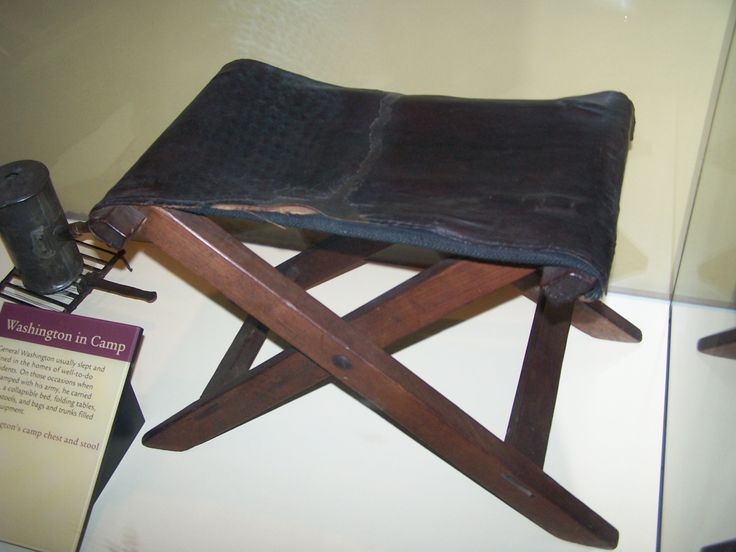 George Washington S Personal Camp Stool That He Used