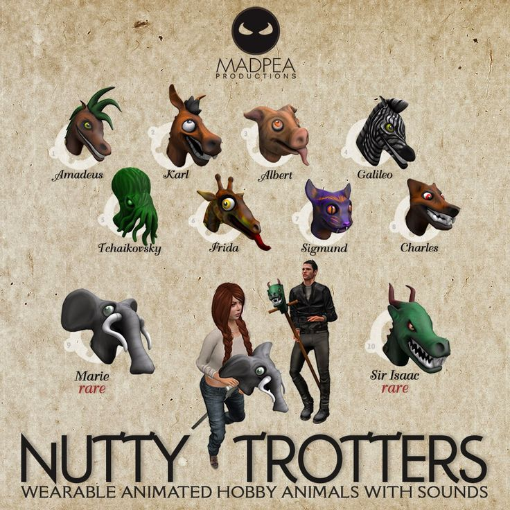 MadPea: MadPea presents NUTTY TROTTERS for OMG Gacha!