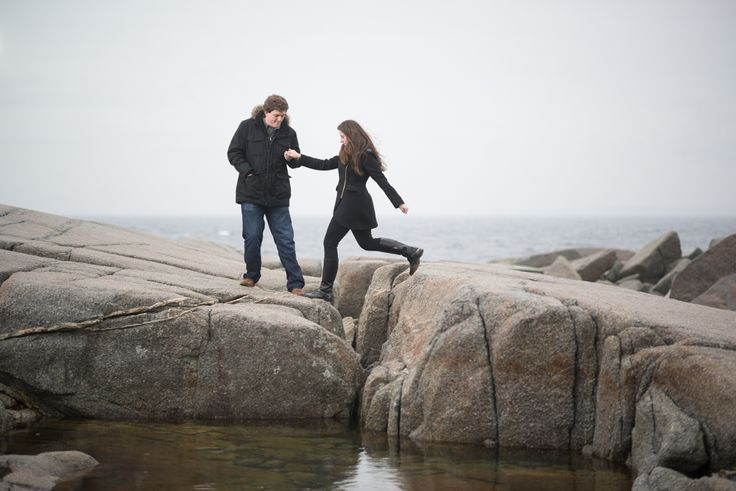 Peggy's Cove engagement photography