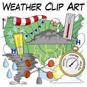 This Weather Clip Art Set Includes 66 High Quality Transparent Png Images