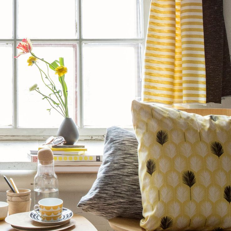 Pippuricollege raita, vanilja - keltainen (LEVEÄ) | NOSH verkkokauppa  | Get inspired by new NOSH fabrics for Spring 2017! Discover new colors, prints and quality organic cotton. Shop new fabrics at en.nosh.fi